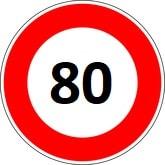 code de la route 80km/h